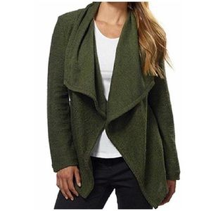 BNCI Tweed Drape Open Front Cardigan Sweater